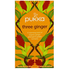 Pukka Herbs Three Ginger Tea, 20 teabags