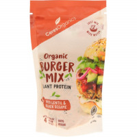 Organic Burger Mix Lentil & Black Sesame, 160g