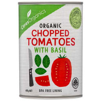 Ceres Organics Chopped Tomatoes whit Basil, 400g