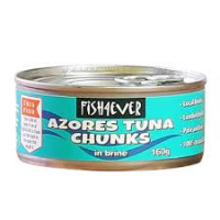 Fish 4 Ever Skipjack Tuna Chunks in Brine, 160g
