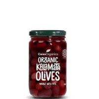 Ceres Organis Organic Kalamata Olives, whole with pits, 320g