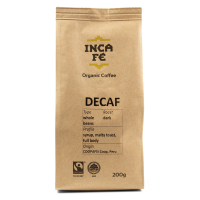 IncaFe Decaf Espresso Grind Coffee, 200g
